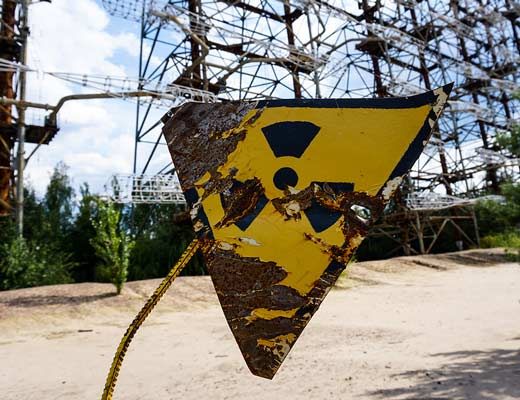 Nuclear contaminated soil